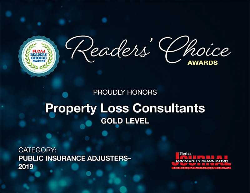 2019 Awarded Consultants Property Award Loss Choice the Reader's is